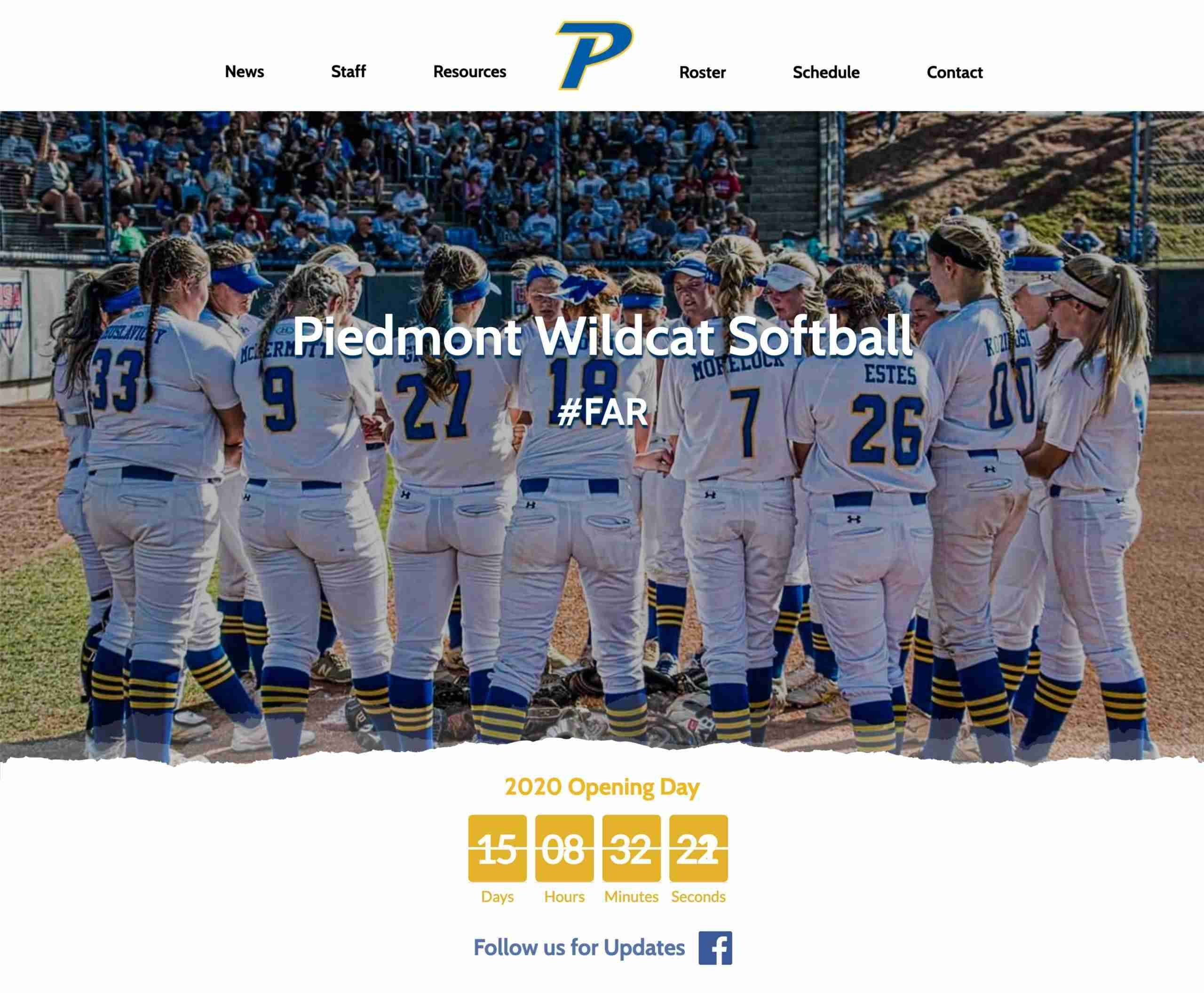 Piedmont Wildcat Softball
